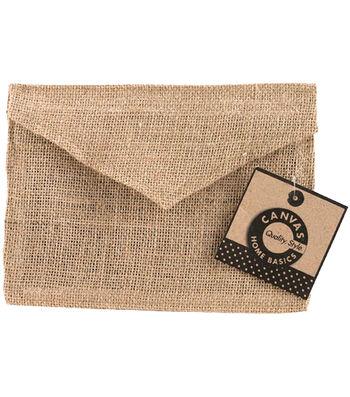 """Burlap Envelope 5""""X7""""-Natural"""