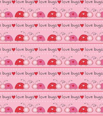 Valentine's Day Fabric 43''-Love Bugs