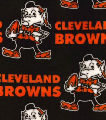 "Cleveland Browns Fleece Fabric 58""-Retro"