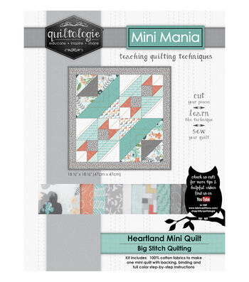 "Quiltologie Mini Mania Quilt Kit 18 1/2""-Heartl&"