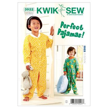 Kwik Sew Pattern K3922 Toddlers' Sleep & Lounge