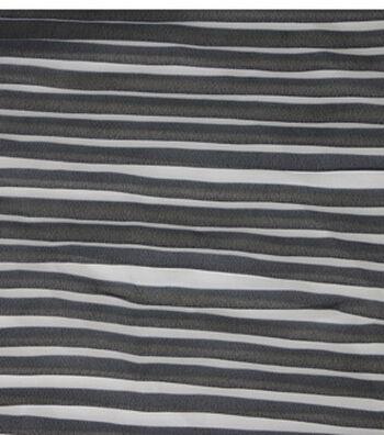 "Silky Chiffon Fabric 52""-Pleated Black"