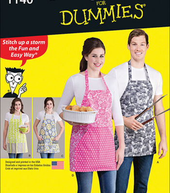 Simplicity Patterns 1140OS Adult Aprons In 4 Styles-One Size