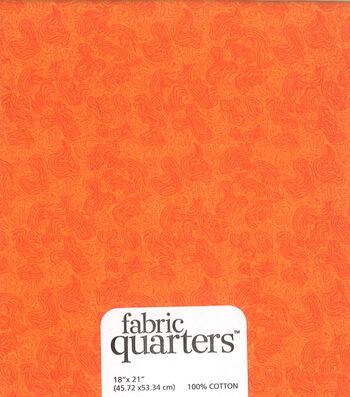 """Fabric Quarters Cotton Fabric 18""""-Orange"""