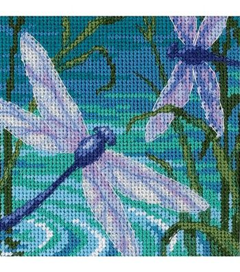 Dimensions Mini Needlepoint Kit Dragonfly Pair