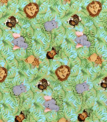 "Nursery Cotton Fabric 44""-Jungle Babies"