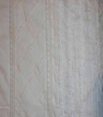 Speciality Cotton Fabric 43''-White Lace Eyelet