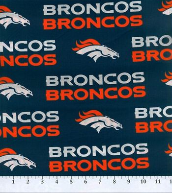 Denver Broncos Cotton Fabric 58''-Mascot Logo