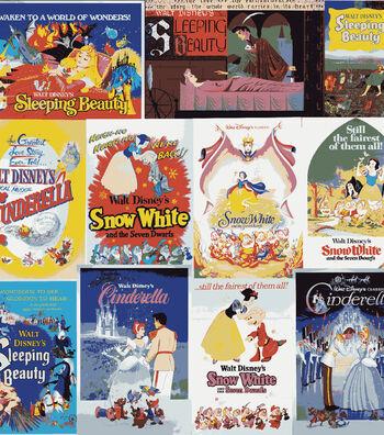 "Disney Cotton Fabric 43""-Awaken to a World of Wonders!"