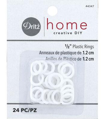 "Dritz Plastic Rings 1/2"" 24Ct"