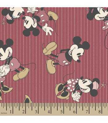Disney® Mickey and Minnie Mouse Print Fabric-Stripes
