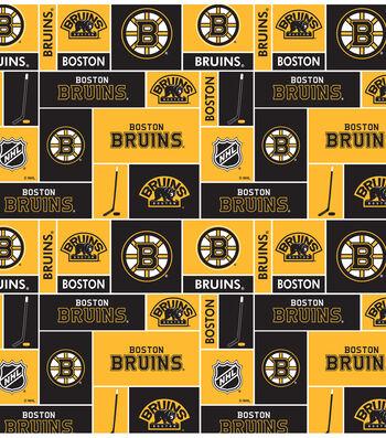Boston Bruins Fleece Fabric 60''-Block