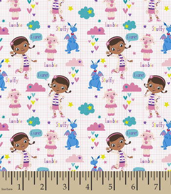 "Disney® Doc McStuffins Cotton Fabric 44""-Scrubs"