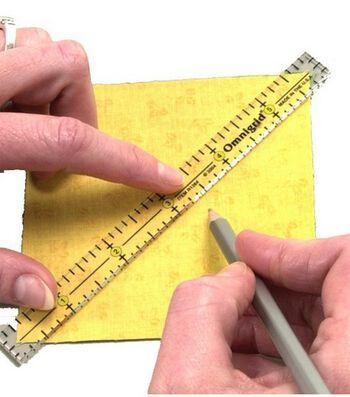 """Omnigrid® Clear Marking Ruler Trio-4"""",6""""&12"""""""
