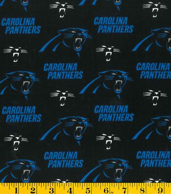 Carolina Panthers Cotton Fabric 58''-Logo