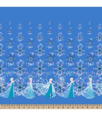 "Disney® Frozen Mock Smock Fabric 21""-Elsa and Snowflakes"