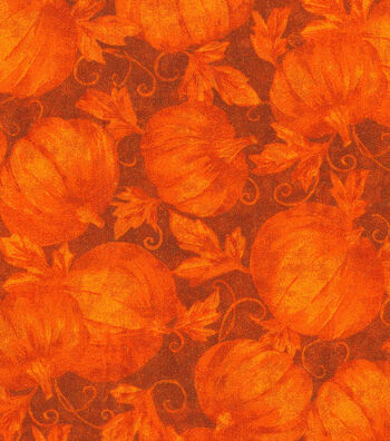 "Harvest Cotton Fabric 43""-Harvest Pumpkins Glitter"