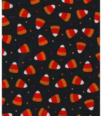 "Holiday Showcase™ Halloween Cotton Fabric 43""-Candy Corn Dot"