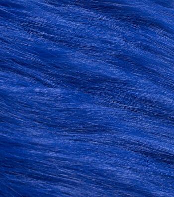 """Fashion Faux Fur Fabric 59""""-Dark Blue"""