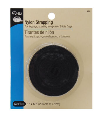"Dritz 1"" x 60"" Nylon Strapping Black"