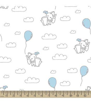 Disney Dumbo Print Fabric-Clouds