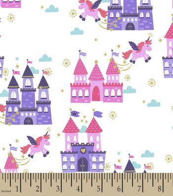 Unicorns & Castles Print Fabric