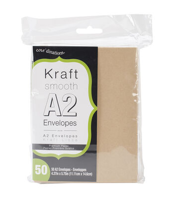 """Heavyweight A2 Envelopes (4.375""""X5.75"""") 50/Pkg-Kraft"""