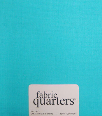 Fabric-Quarters Cotton Fabric-Solids Turquoise