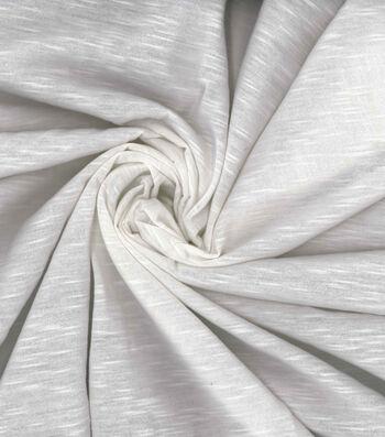 Kathy Davis® Linen Look Knit Apparel Fabric 58''-White