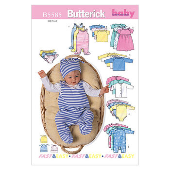 Butterick Pattern B5585 Infants' Casual Outfits-Size M-L-XL