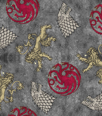 "Game of Thrones Cotton Fabric 43""-Power Play"