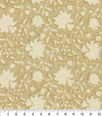 Ellen DeGeneres Upholstery Fabric 54''-Parchment Floral Silhouette