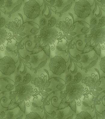 "Hi Fashion Premium Quilt Fabric 44""-Green Lace"