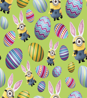 Easter Cotton Fabric 45''-Minions