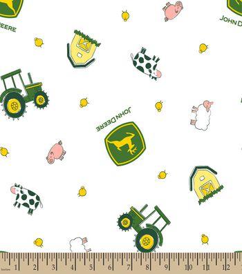 John Deere Nursery Farm Toss Print Fabric