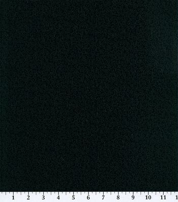 "Keepsake Calico™ Cotton Fabric 45""-Black Scroll"