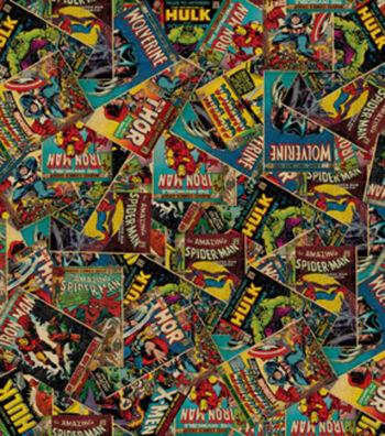 "Marvel Comics™ Cotton Fabric 44""-Retro Comic"