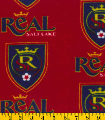 "Real Salt Lake Fleece Fabric 58""-Logo"