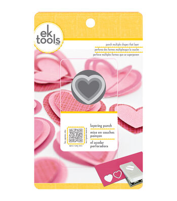 EK Tools® 1.5'' Layering Punch-Heart