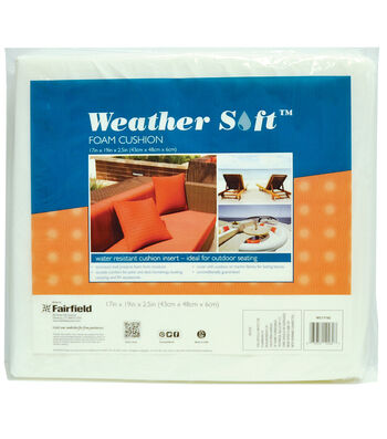 "Weather Soft™ Foam Cushion 17"" x 19"" x 2 1/2"" thick"