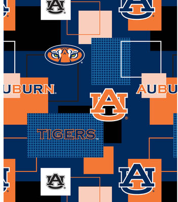 "Auburn University Tigers Cotton Fabric 43""-Logo"