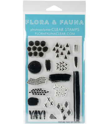 "Flora & Fauna Clear Stamps 4""X6""-Texture Two"