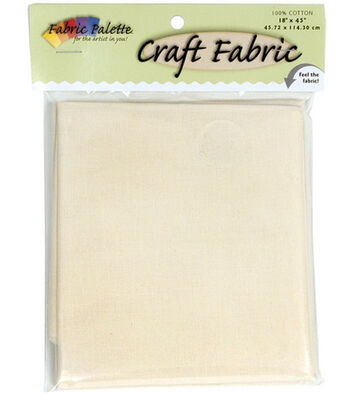 "Craft Cotton Fabric-Solids 45"" Wide 1/2 Yard Cut-Natural 1/Pkg"