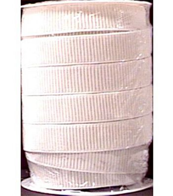 """Non-Roll Ribbed Elastic 1"""" Wide 30 Yards-White"""