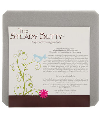"""Steady Betty Pressing Surface-12""""X12"""" Gray"""