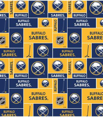 """Buffalo Sabres Fleece Fabric 60""""-Block"""