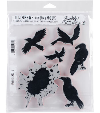 Stampers Anonymous® Tim Holtz® Cling Stamps-Ravens