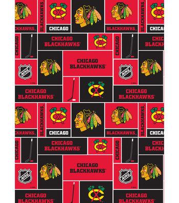 Chicago Blackhawks Cotton Fabric 43''-Block
