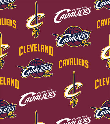 "Cleveland Cavaliers Fleece Fabric 60""-Tossed"