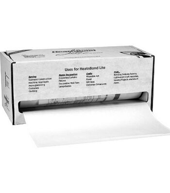 "Heat'n Bond Lite Iron-On Adhesive-White 17""X75yd"